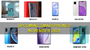 Upcoming Smartphones November 2020